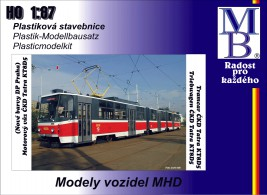 1:87 Tram ČKD Tatra KT8D5 ″DP Praha″ (new colors T6) Building Kit
