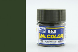 Barva Mr. Color akrylová č. 017 – RLM71 Dark Green (10 ml)