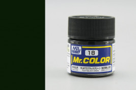 Barva Mr. Color akrylová č. 018 – RLM70 Black Green (10 ml)